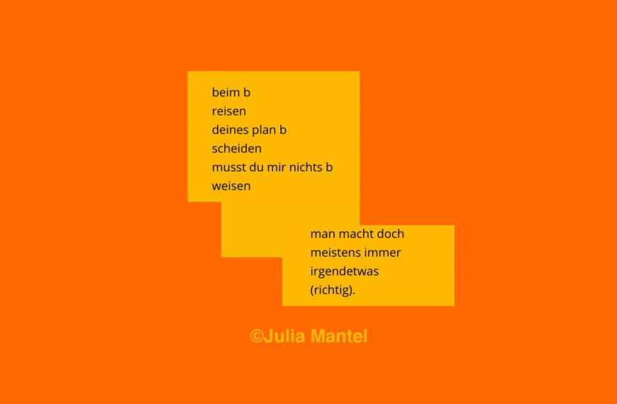 Julia Mantel | Mehr Gedichte